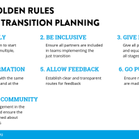 7 golden rules for just transition planning in EU coal regions